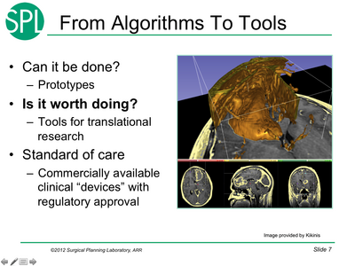From algorithms to tools
